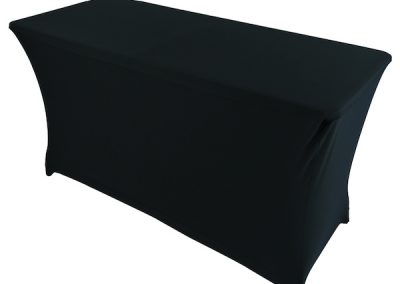 Location Table habillage lycra noir