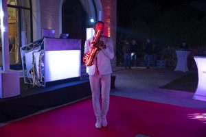 Animation saxophoniste au Domaine de la Bordina